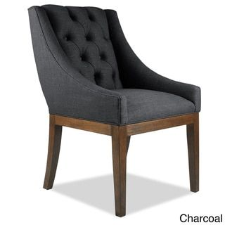 Alexa Linen Dining Chair - 18994571 - Overstock - Great Deals on South Cone Home Dining Chairs - Mobile
