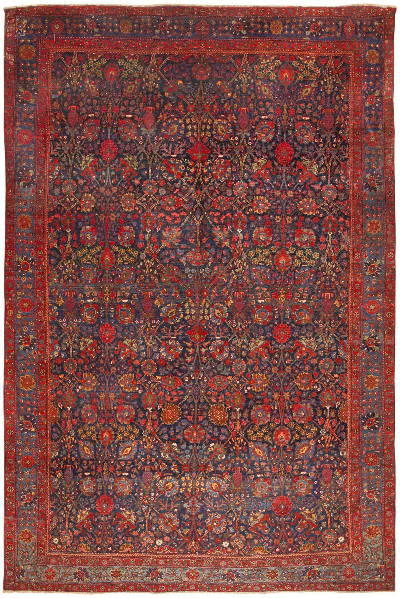 Antique persian kurdish bidjar rug by nazmiyal also