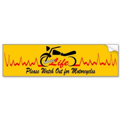 Choose Life ( Motorcycle ) #Bumper #Sticker   #bikers #motorcycles #lifeline #zazzle