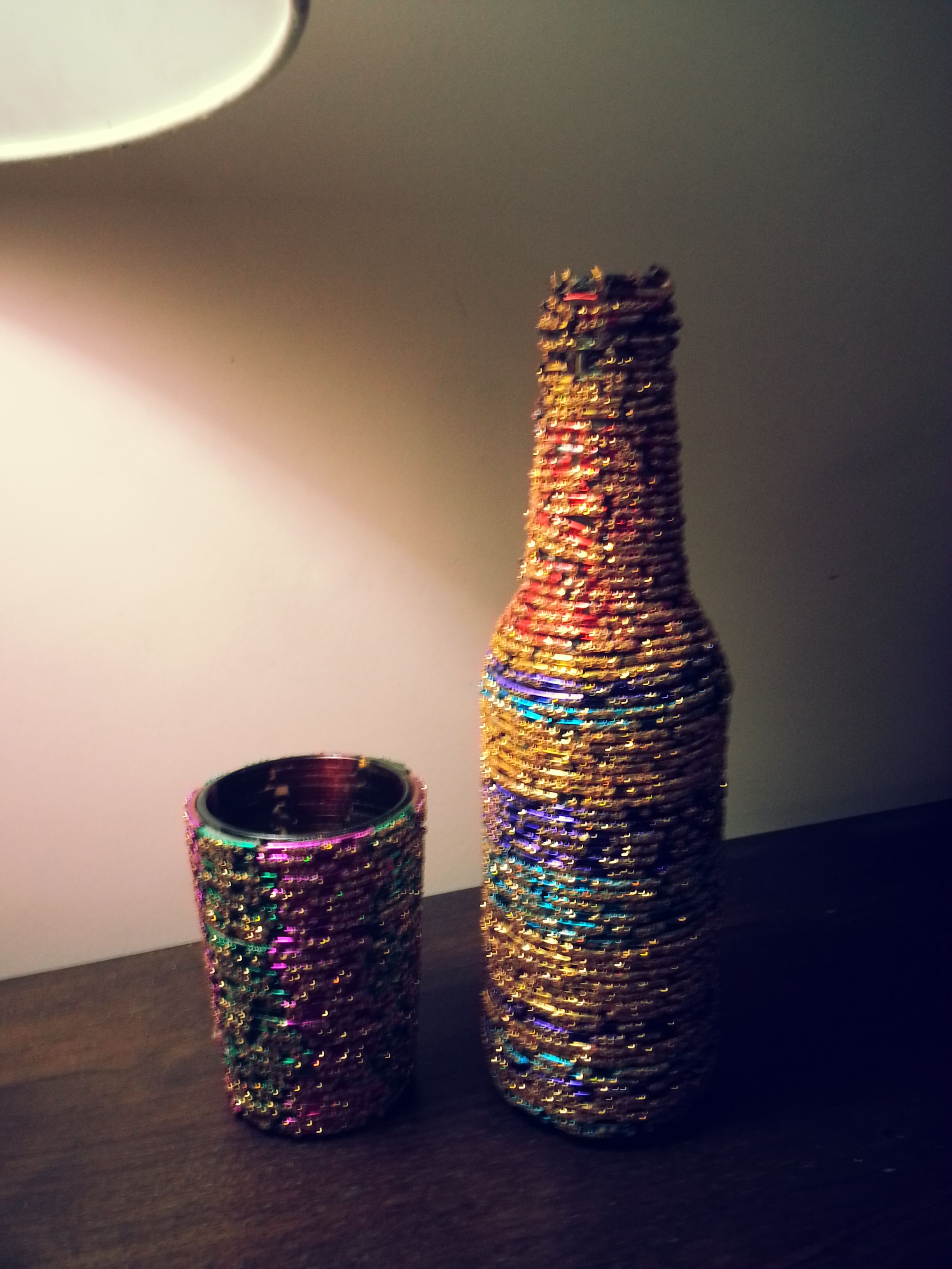 9 waste bangles art ideas activity for joy pinterest for Waste out of waste ideas