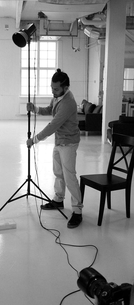 Behind the scenes at Dunder-Berg photo shoot