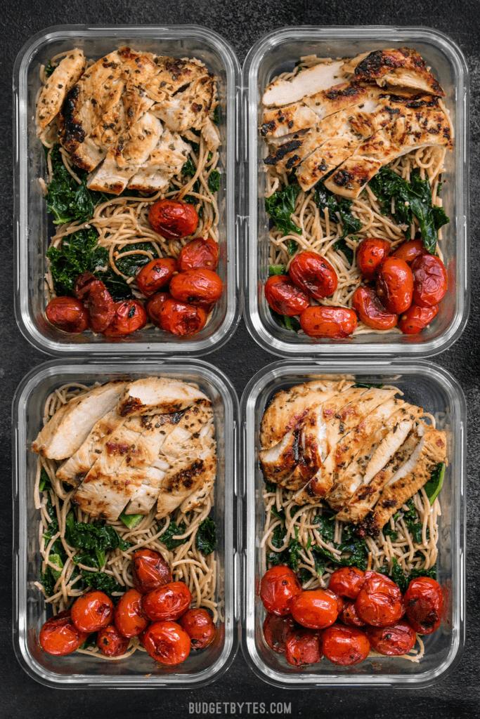 Photo of 12 recettes alimentaires propres pour perdre du poids: préparation des repas pour la semaine