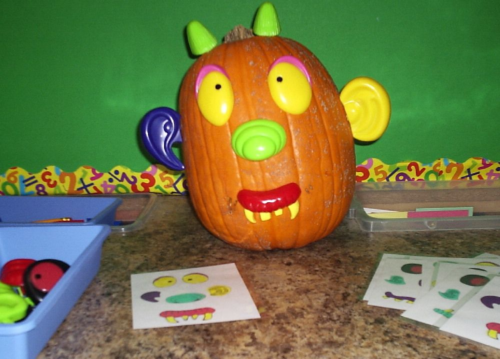 Program cards with Potato Head Parts & a Pumpkin