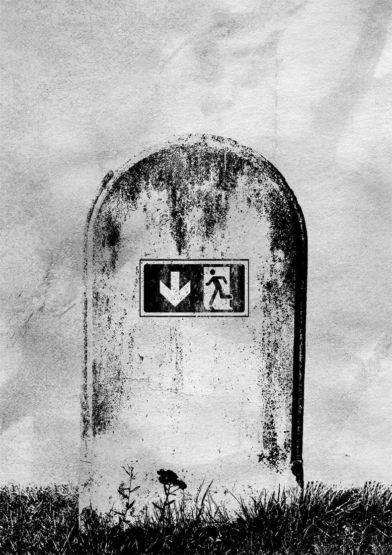 real emergency exit. artworks