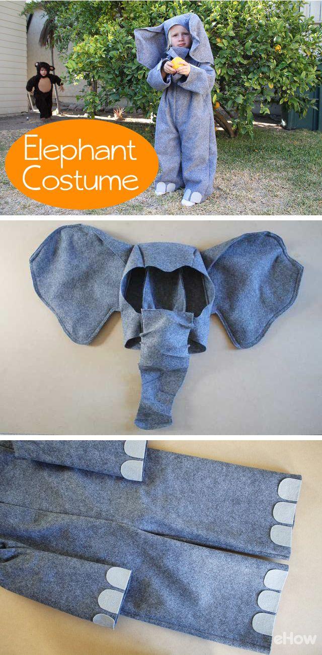 How to Make an Elephant Costume   Pinterest   Elephant costumes ...