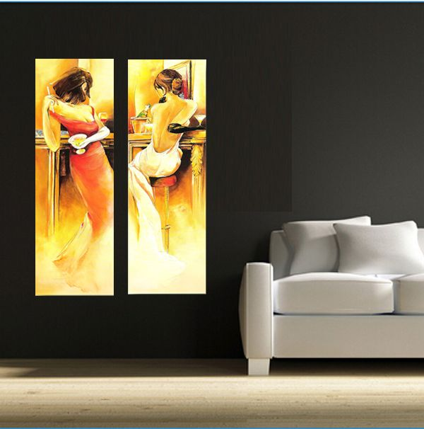 Quadri moderni con donne sexy dipinti a mano olio su tela for Dipinti a mano moderni