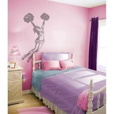 sudden shadows 53 in x 28 in cheerleader wall decal 01914 at the rh pinterest cl