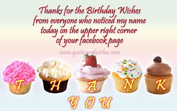 Hahaha Thankyou1 Thank You Picture Quote For Birthday Wishes On Facebook Your