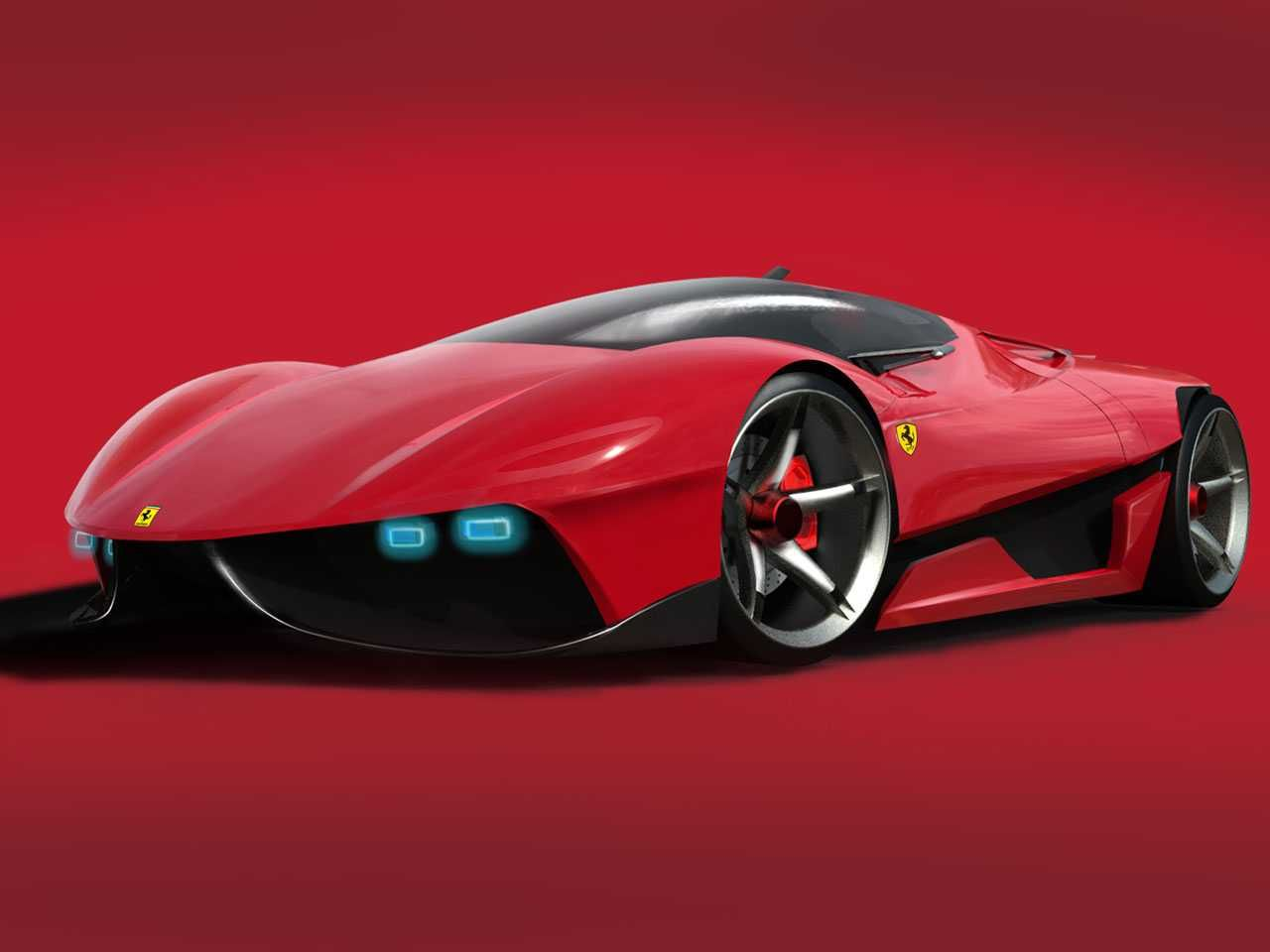 future automobiles car luxurious of new ferrari ego in red concept gradasishop future car