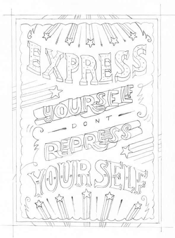 Express yourself don't repress yourself by Maria Bruggeman