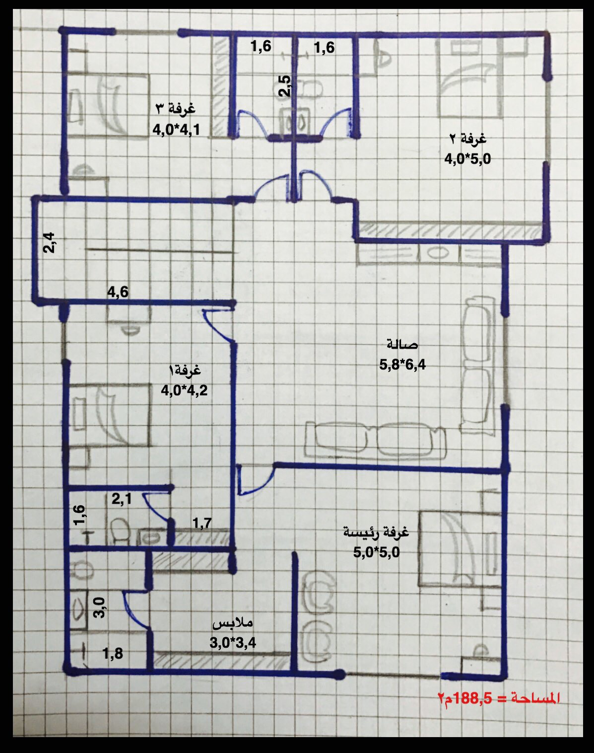 Pin By Musab Alshamrani On House Plans Simple House Plans Family House Plans Model House Plan
