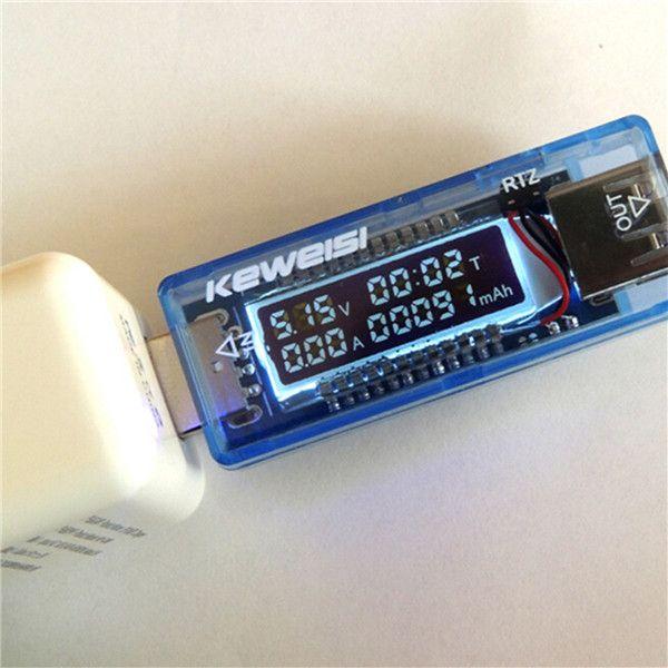 USB Detector Voltmeter Ammeter Power Capacity LCD Battery Current Meter Tester