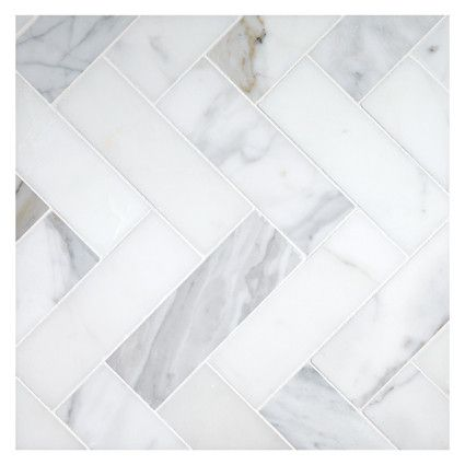 Herringbone Mosaic 2 X 6 Tile Calacatta Honed Marble Herringbone Marble Floor Herringbone Tile Floors Marble Tile Floor
