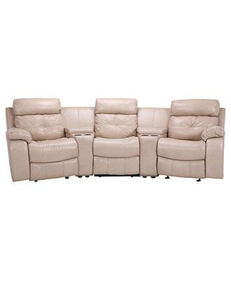 justin ii fabric reclining sectional sofa footrest leather with vinyl sides back recliner chairs 5 piece set 3 recliners and 2 consoles 124 w x 53 d 39 h sofas furniture