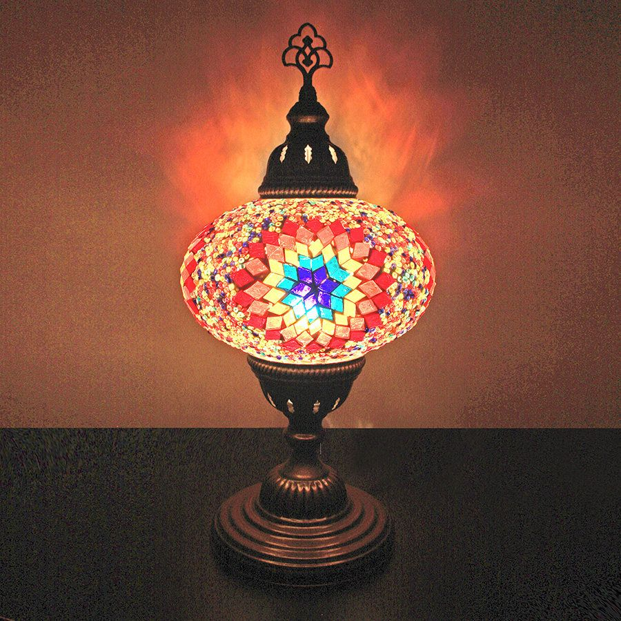 Turkish Mosaic Table Lamp 7 1 Big Globe Flame Mosaic Easy
