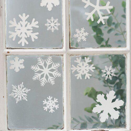 The Seasonal Aisle Wandsticker Weihnachtsschneeflocken | Wayfair.de