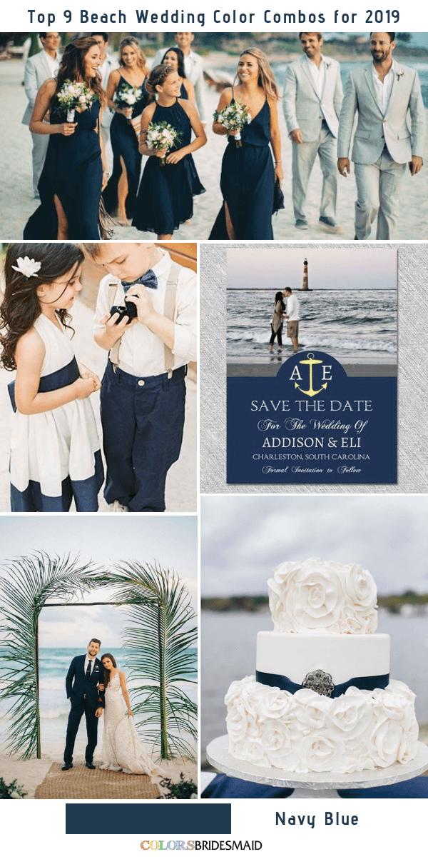 Top 9 Beach Wedding Color Combos Ideas for 2019