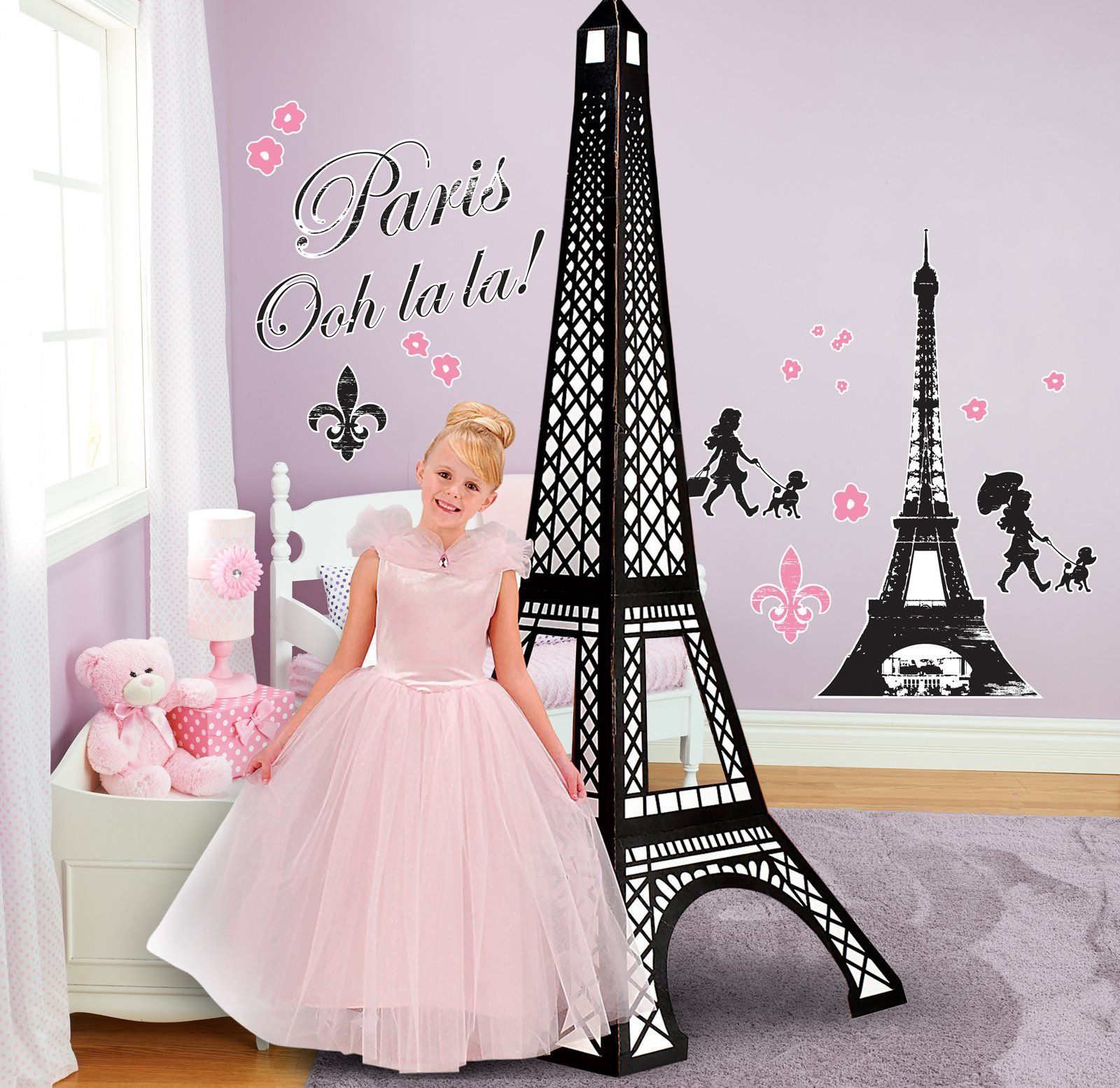 Paris Damask Giant Wall Decals and Standup Kit from BirthdayExpress.com