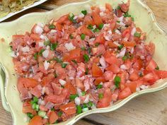 Photo of lomi lomi salmon.. one of my favorite hawaiian dishes, my dad makes the BEST!