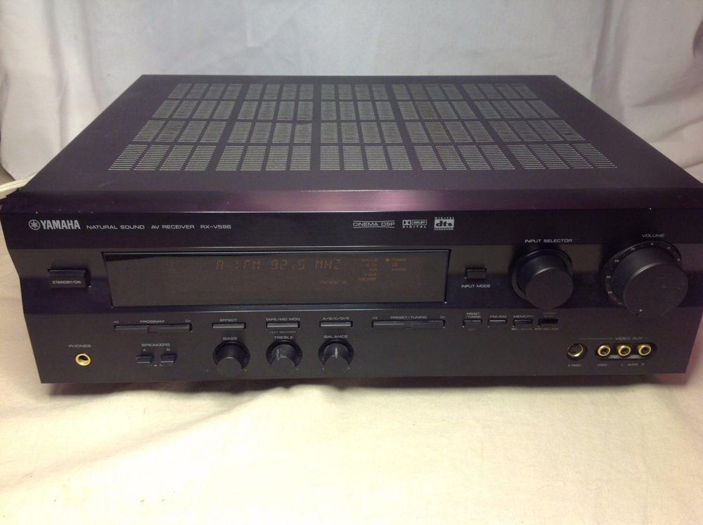 Yamaha rx v596 5 1 channel 500 watt home theater av for Yamaha home theater amplifier