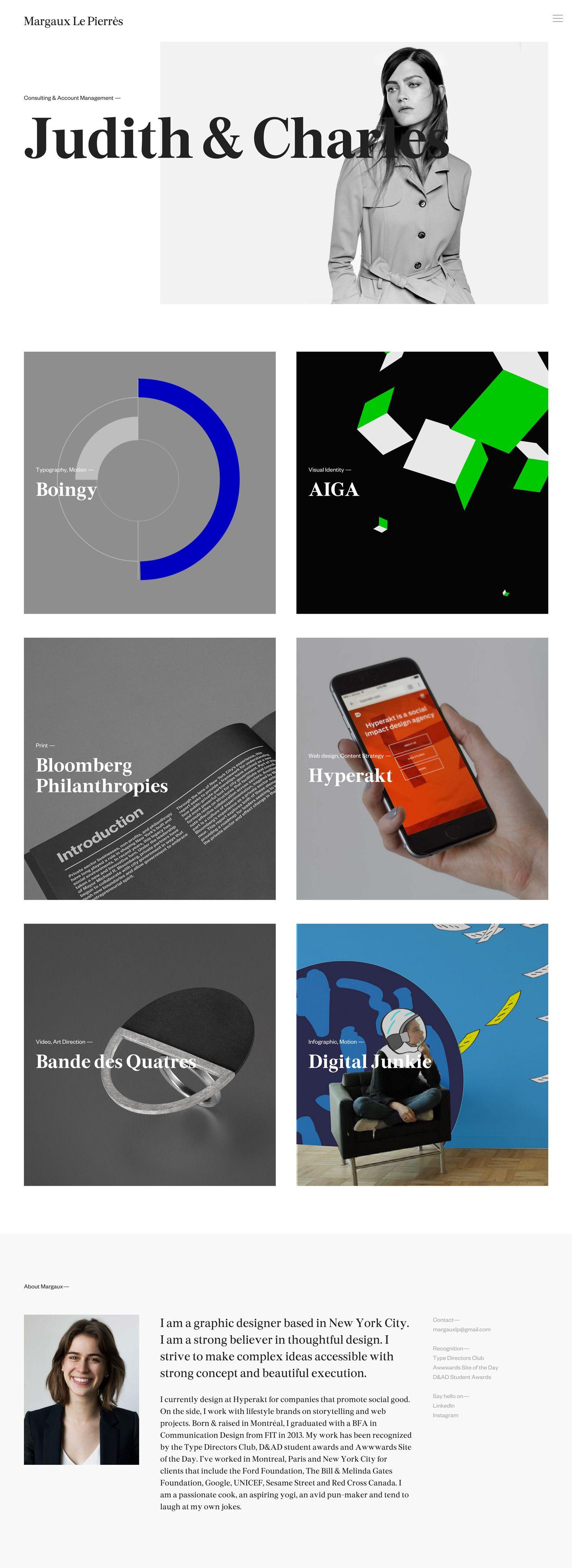Web design, Aiga, Design