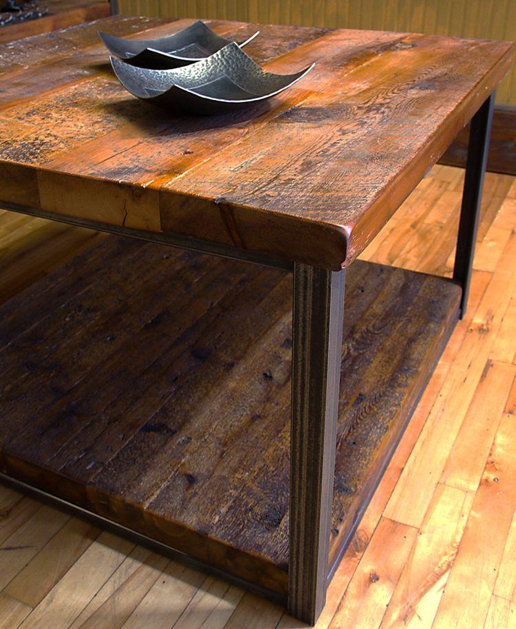 Bois De Grange Et Métal Bois Table Barn Wood Home Decor