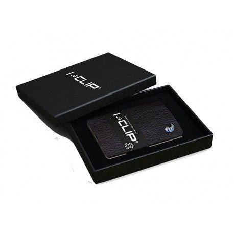 Praktisk og let I-Clip kortholder / pung i sort - lavet i Tyskland