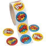 100 superhero stickers