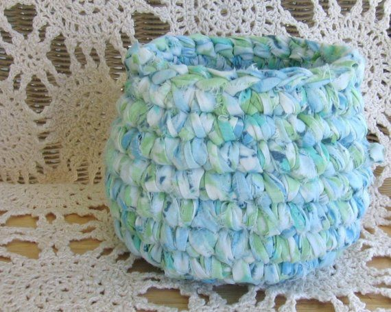 recycled fabric woven basket