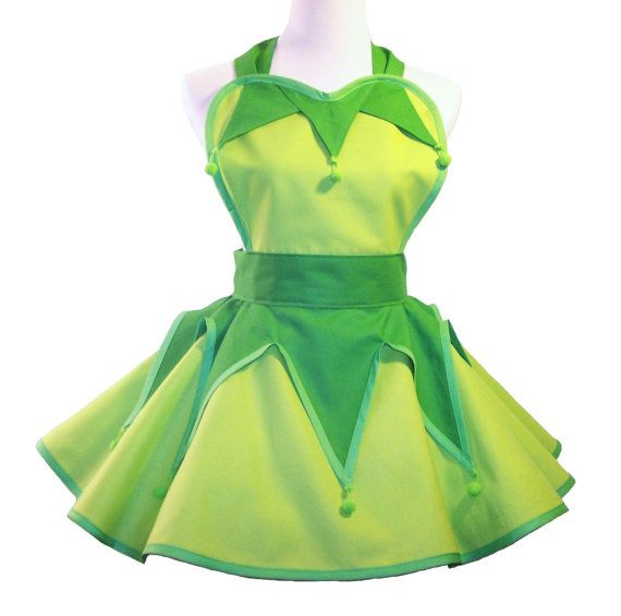 Tinkerbell Costume Apron Tinkerbell Cosplay by WellLaDiDaAprons, $60.00