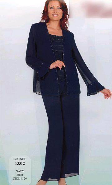 Plus Size Navy Blue Pant Suit