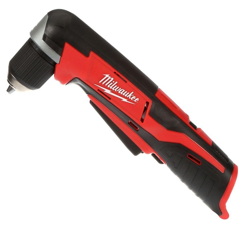 Milwaukee M12 12 Volt Lithium Ion Cordless 3 8 In Right Angle Drill Tool Only 2415 20 Angle Drill Milwaukee M12 Drill