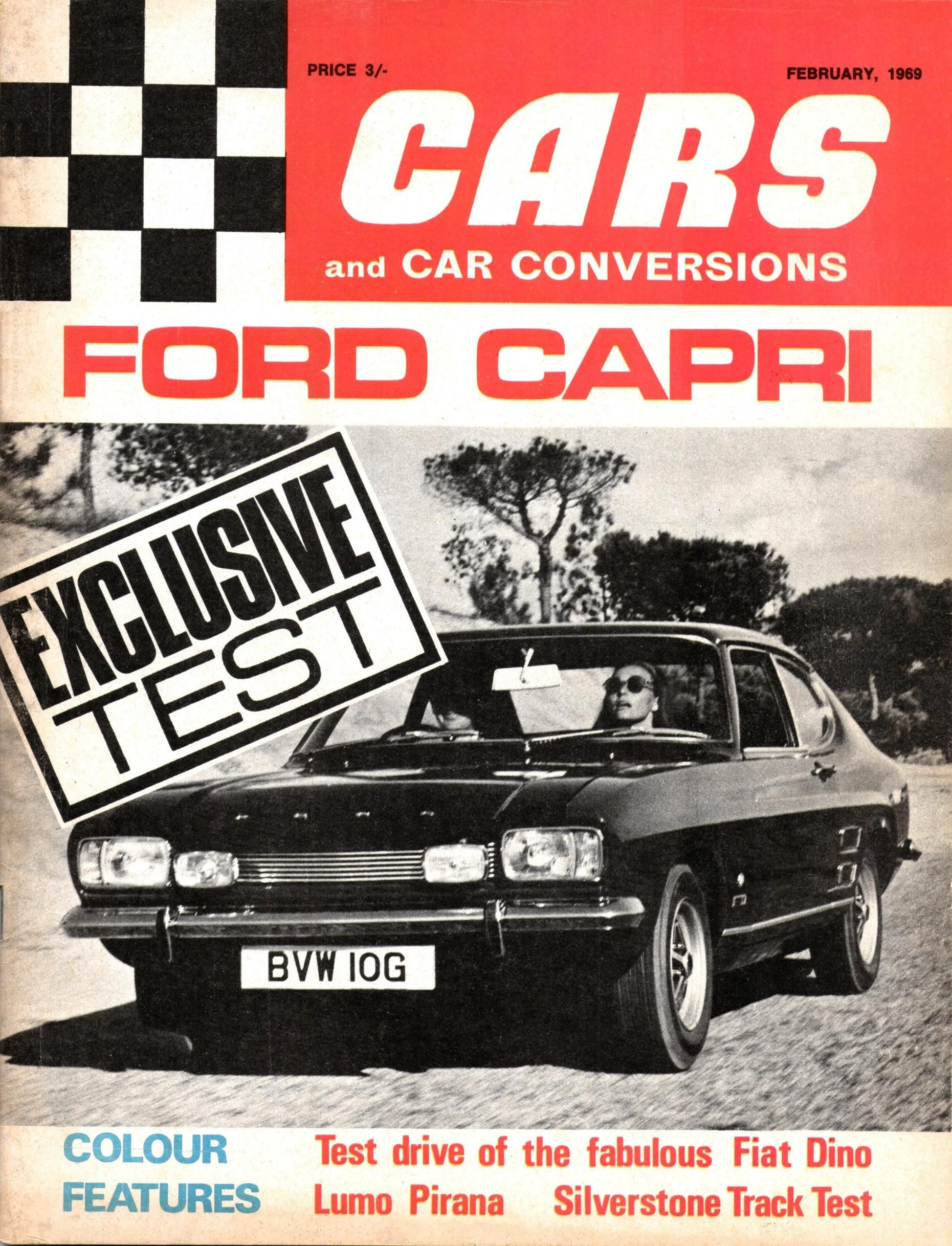 NEW FORD CAPRI - Cars u0026 Car Conversions magazine cover February 1969 - UK : ford capri cars - markmcfarlin.com