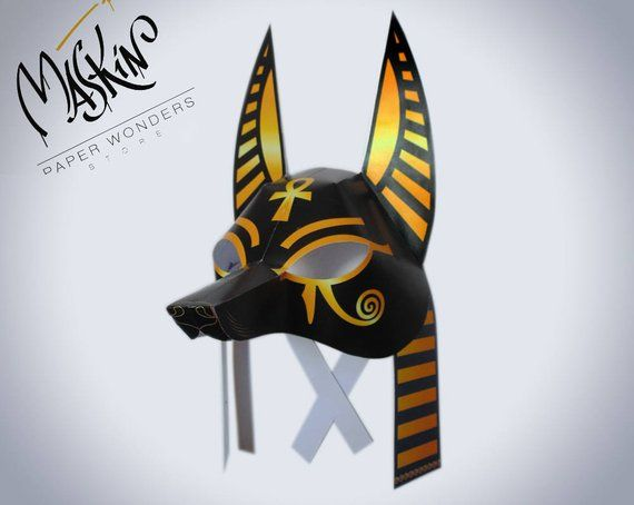 8b1b592f48e Anubis mask printable. Egyptian mask. Mask pattern Anubis costume mask.  Egyptian costume mask. Egyp