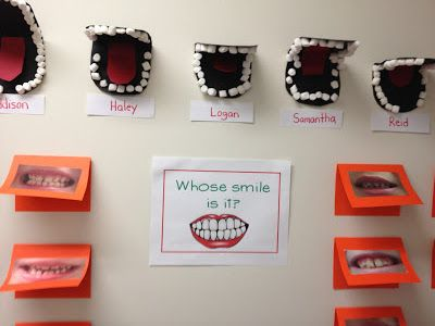 Whose smile? I love this game! Perfect for February's dental health month!
