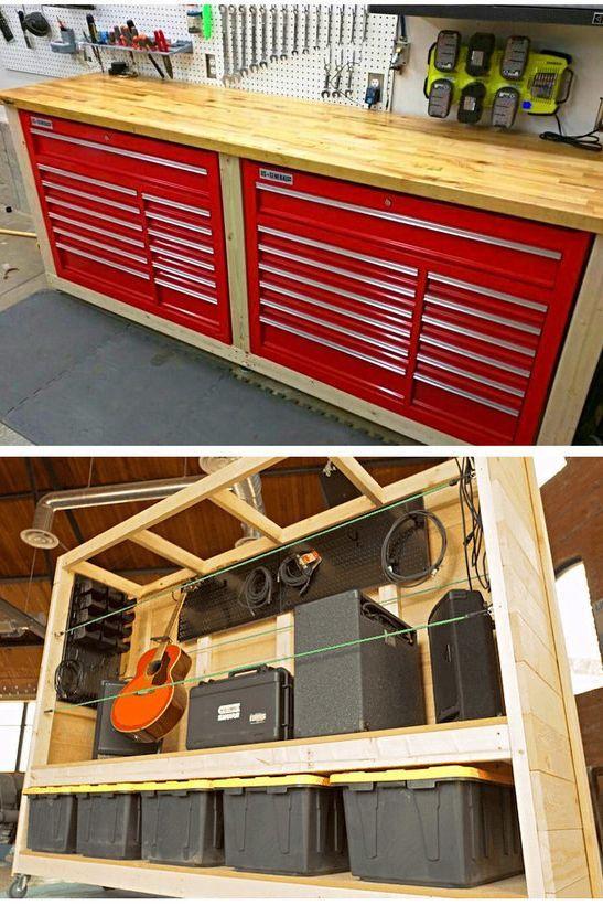 Easy diy garage storage ideas and diy overhead garage