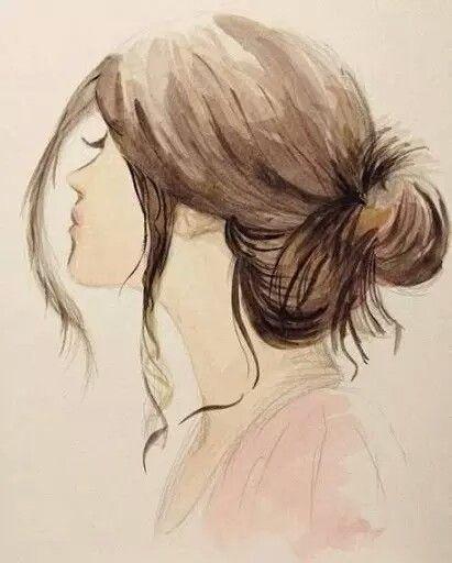Haare zeichnen acryl