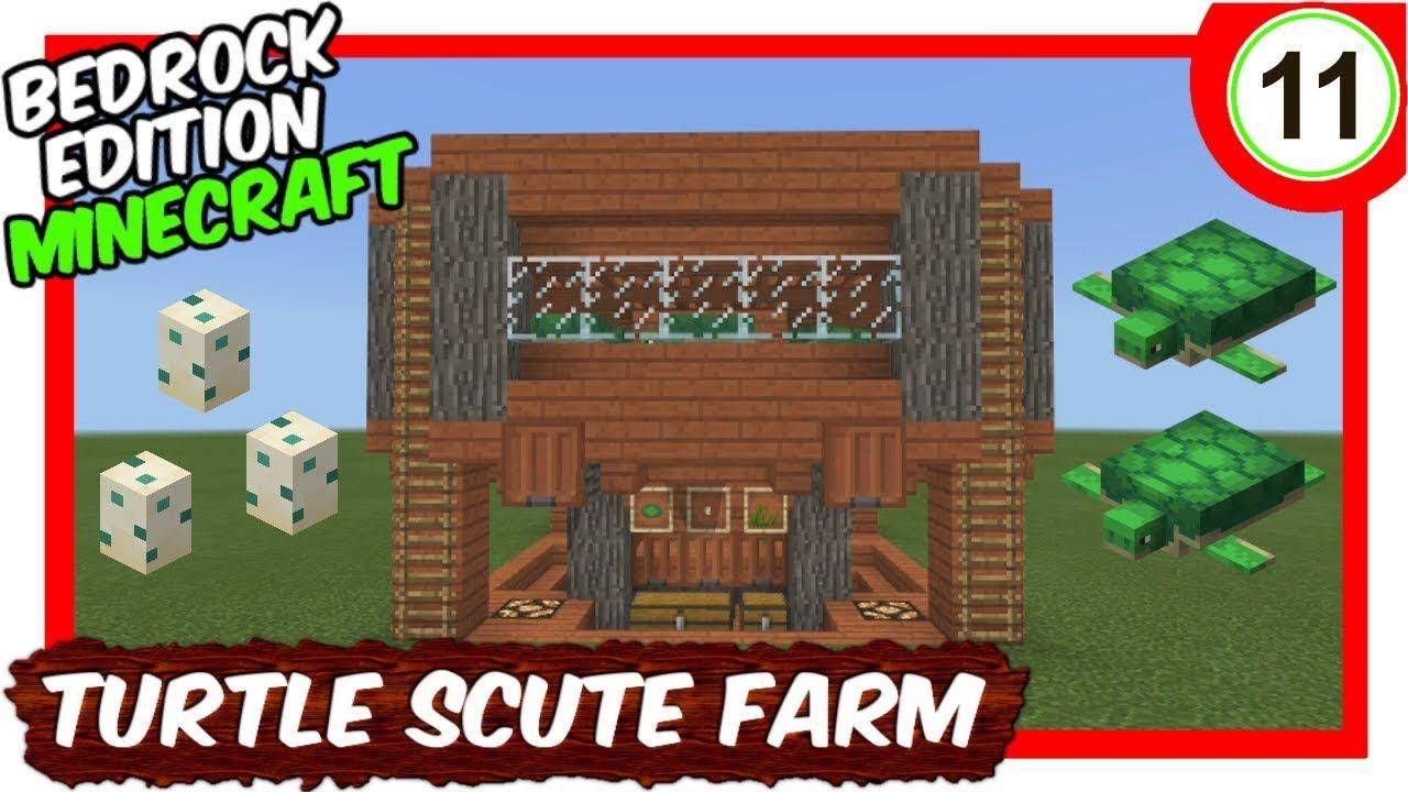 Elegant Turtle Scute Sea Grass Farm Minecraft Bedrock Edition