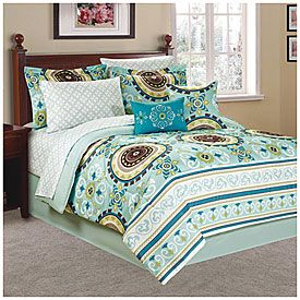 Living Colors King Blue Green Suzani 10 Piece Bed In A Bag At Lots