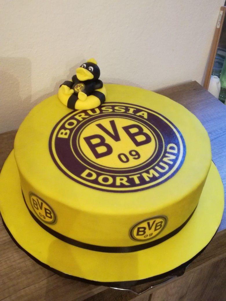 Bvb Torte Mit Modellierter Ente Bvb Borussia Dortmund