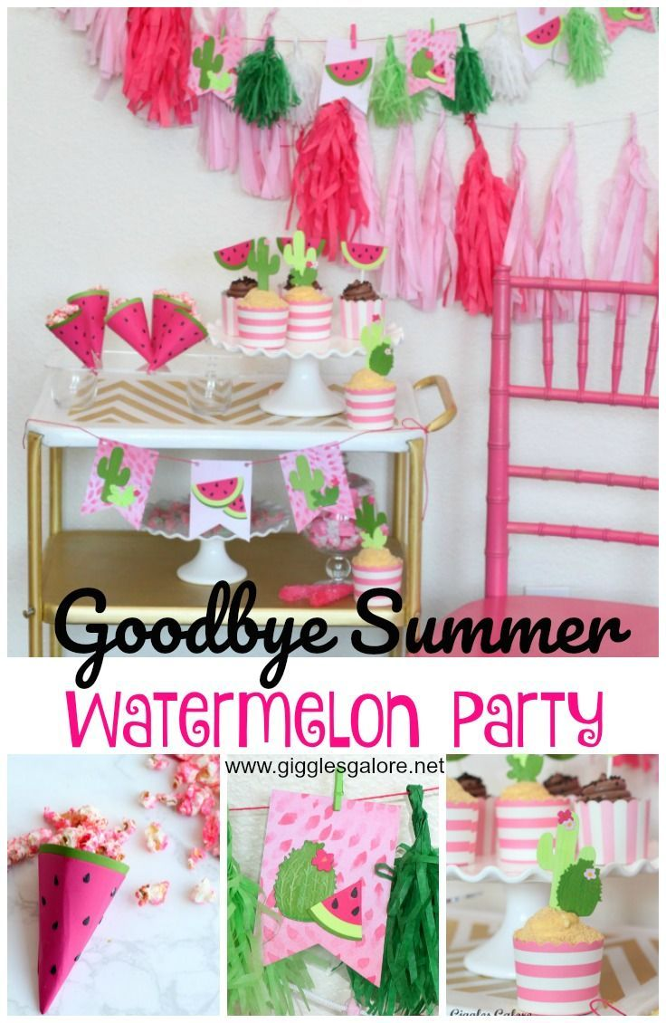 Goodbye Summer Watermelon Party Summer party themes
