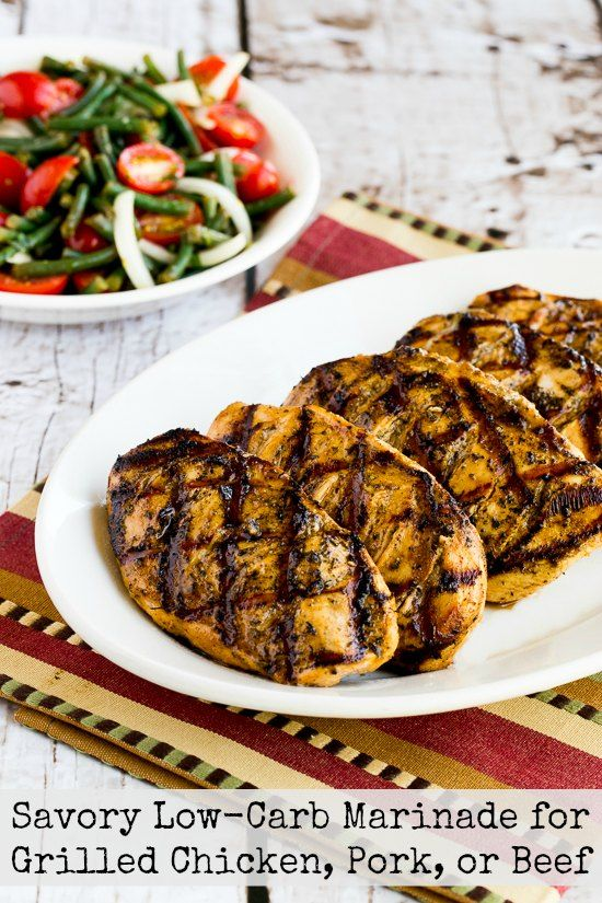 Savory Low-Carb Marinade for Grilled Chicken, Pork, or Beef – Kalyn's Kitchen