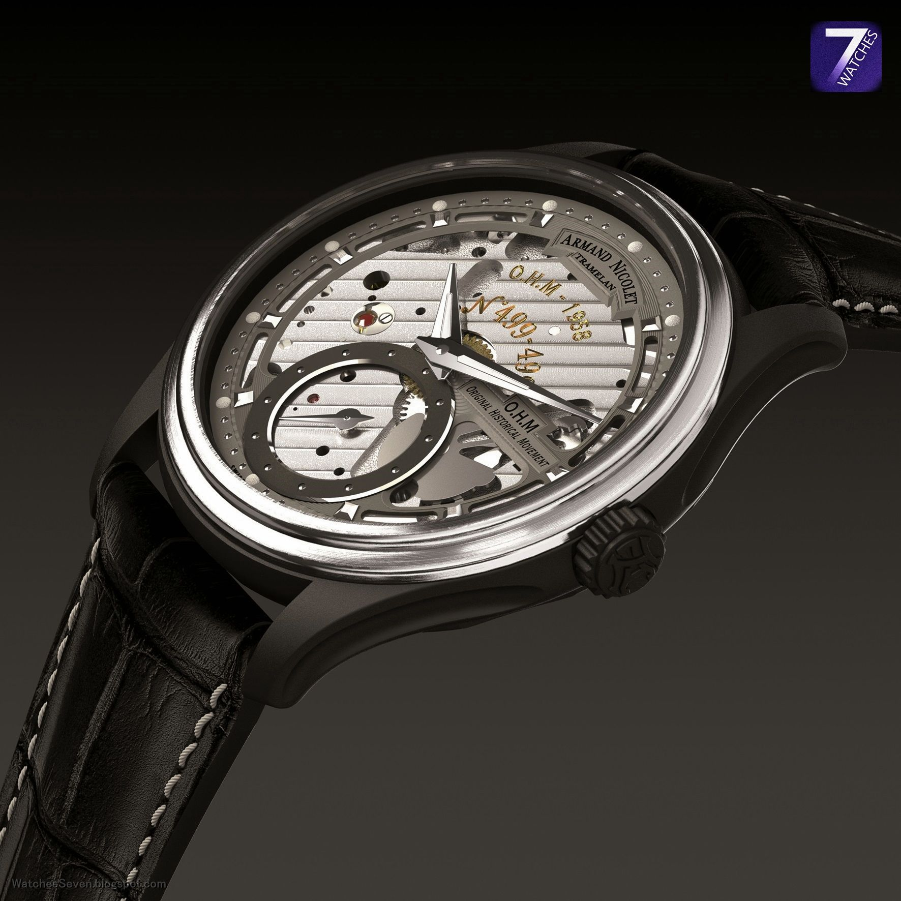 Watches 7 armand nicolet l14 o h m limited edition for Armand nicolet watches
