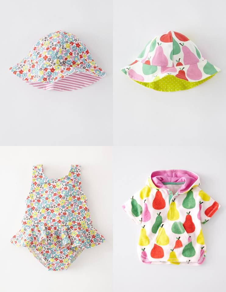 Layer little heads (and shoulders) with a mix of matching prints. Are you partial for pear or dotty for ditsy? #Boden