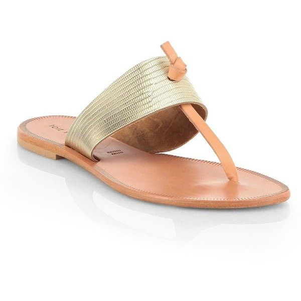 Joie Nice Metallic Leather Thong Sandals (2 020 ZAR) ❤ liked on Polyvore featuring shoes, sandals, apparel & accessories, platinum, leather shoes, toe thongs, thong sandals, thong strap sandals and joie shoes