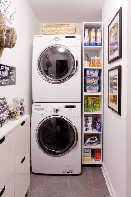 Small space well organized Espacio de lavandera en casa