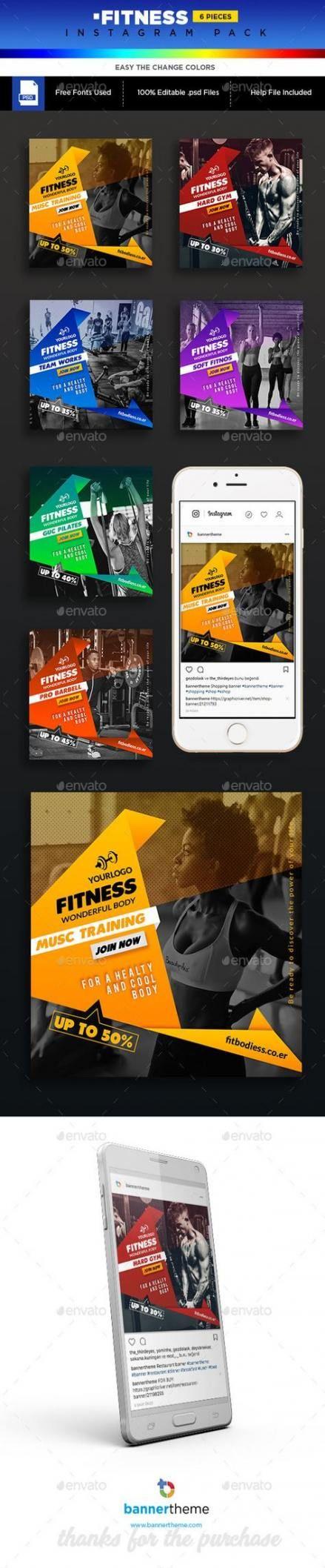 Fitness Instagram Banner 51 Ideas #fitness