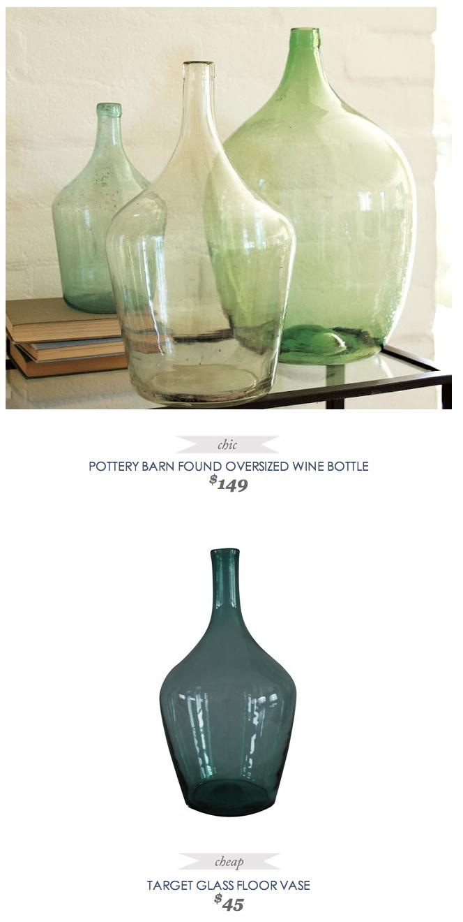 Pottery Barn Found Oversized Wine Bottle Glass Floor Vase Pottery Barn Wine Bottle