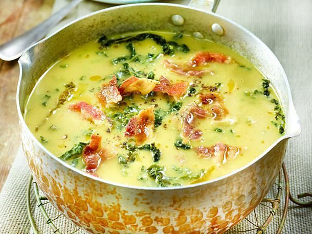 Photo of Potato and savoy soup with bacon recipe DELICIOUS
