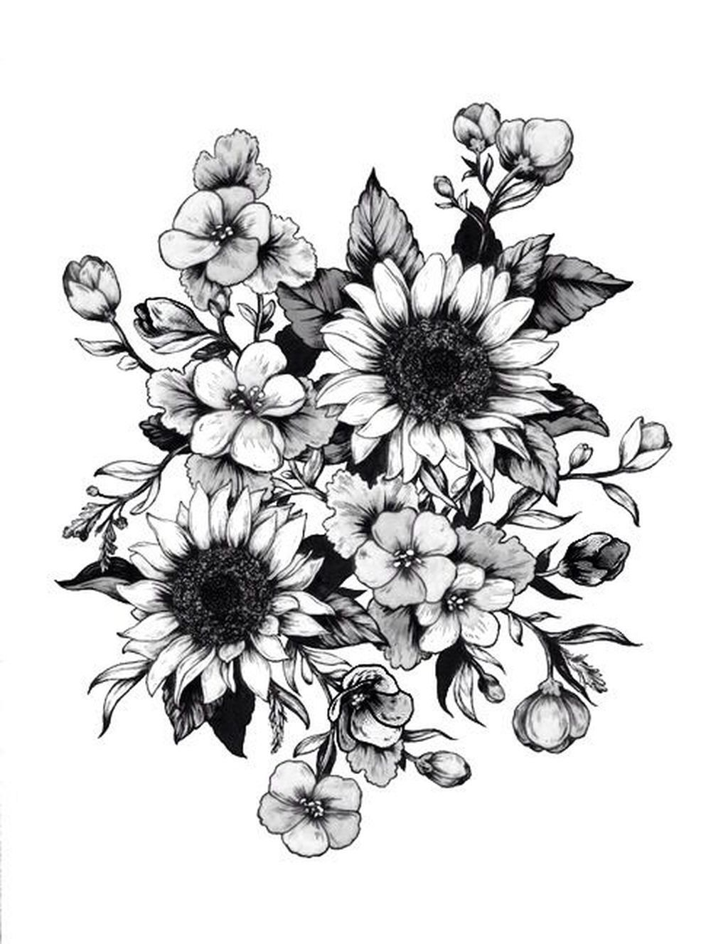 28 Impressive Black And White Sunflower Tattoo Wildflower Tattoo Forearm Flower Tattoo Sunflower Tattoo Sleeve
